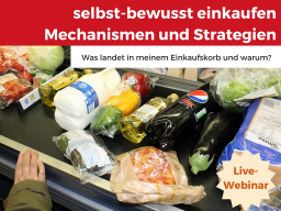 Webinar: Selbst-bewusst einkaufen - Mechanismen und Strategien beim Einkaufen