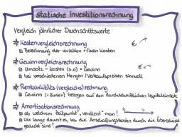 Webinar: IF1 - Teil 1 - statische Investitionsrechnung
