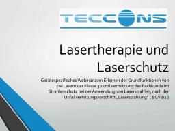 Webinar: Lasertherapie und Laserschutz in der Veterinärmedizin