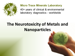 Webinar: The Neurotoxicity of Metals and Nanoparticles