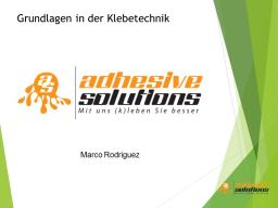 Webinar: Grundlagen der Klebetechnik