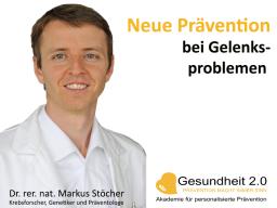 Webinar: Neue Prävention bei Gelenksproblemen
