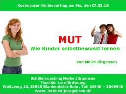 Webinar: MUT - Wie Kinder selbstbewusst lernen