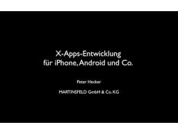 Webinar: Cross-Apps-Entwicklung für iPhone, Android und Co.
