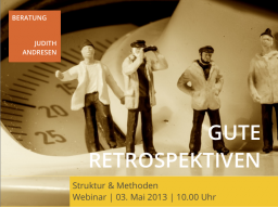 Webinar: Gute Retrospektiven