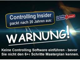 Webinar: Der 6+1 Schritte Masterplan zur effizienten Einführung von Controlling Software!