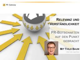 Webinar: Experten-Webinar: Relevanz und Verständlichkeit  PR-Botschaften auf den Punkt gebracht