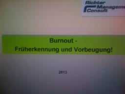Webinar: Burnout - Früherkennung und Vorbeugung!