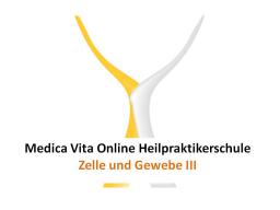 Webinar: Zelle und Gewebe III