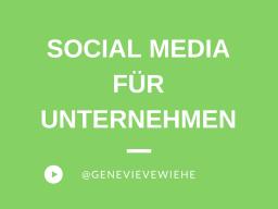 Webinar: Social Media für Unternehmen
