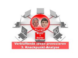 Webinar: winTRIZ Starter-Modul 3 - Knackpunkt-Analyse