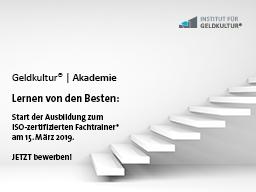 Webinar: Info-Webinar zur Ausbildung zum ISO-zertifizierten Fachtrainer für rationale Finanzkompetenz