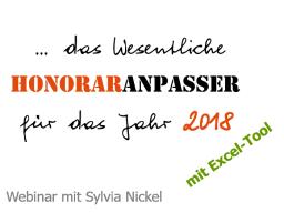 Webinar: Preis- und Honoraranpasser 2017/18 | Werkzeug für Selbständige und Freiberufler