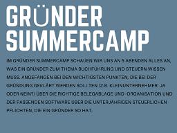 Webinar: Gründer-Summercamp Buchführung