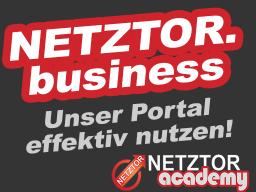 Webinar: NETZTOR.business | Wie Du unser Portal optimal für Dich nutzen kannst