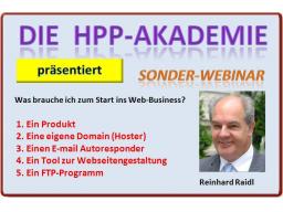 Webinar: HPP-SonderWebinar - Web Starter-Tools