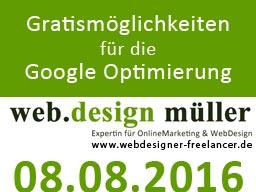 Webinar: Gratis-Möglichkeiten für die Suchmaschinenoptimierung