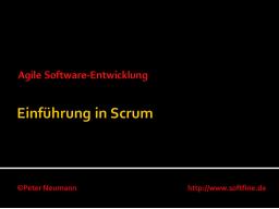 Webinar: Einführung in Scrum