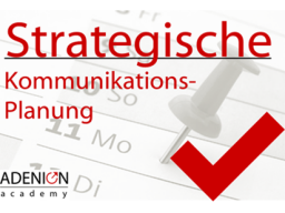 Webinar: Strategische Kommunikationsplanung