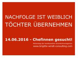 Webinar: NACHFOLGE IST WEIBLICH - TÖCHTER ÜBERNEHMEN