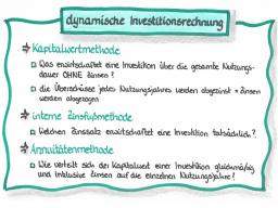 Webinar: IF1 - Teil 2 - dynamische Investitionsrechnung