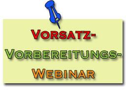 Webinar: Vorsatz Vorbereitungs Webinar