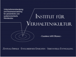 Webinar: Das Institut für Verhaltenskultur - lernen Sie uns kennen