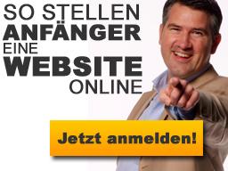 Webinar: So stellen Anfänger eine Website online!