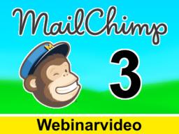 Webinar: Mail Chimp Kurs 3