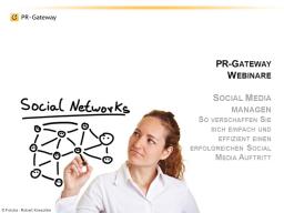 Webinar: Social Media managen - so verschaffen Sie sich einfach und effizient einen erfolgreichen Social Media Auftritt