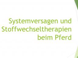 Webinar: Systemversagen und Stoffwechseltherapien beim Pferd - Teil 2