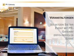 Webinar: Veranstaltungen: So setzen Sie Ihr Event mit PR-Gateway erfolgreich in Szene