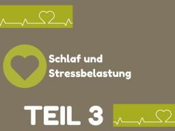 Webinar: TEIL 3: Schlaf und Stressbelastung