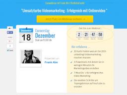 Webinar: Umsatzturbo Videomarketing - Erfolgreich mit Onlinevideo