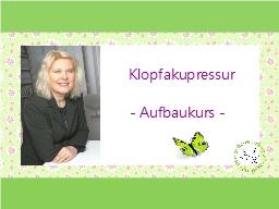 Webinar: Klopfakupressur - Aufbaukurs für Fortgeschrittene