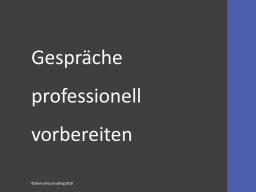 Webinar: Gespräche professionell vorbereiten