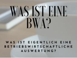 Webinar: Was ist eine betriebswirtschaftliche Auswertung (BWA)?