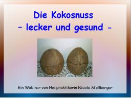 Webinar: Die Kokosnuss - lecker und gesund