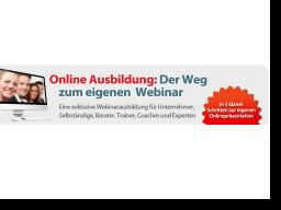 "Webinar: Facebook-Bonusmodul - ""Der Weg zum eigenen Webinar"""