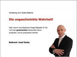 """Webinar: """"Die ungeschminkte Wahrheit!"""""""