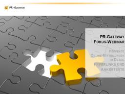Webinar: Fokus Webinar - Perfekte Online-Mitteilungen im Detail: Hyperlinks und Ankertexte