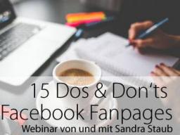 Webinar: Deine Facebook Fanpage - die 15 Dos und Donts