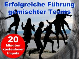 Webinar: Erfolgreiche Führung gemischter Teams  kostenloser Impuls