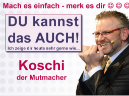 Webinar: Merk es Dir mit Koschi