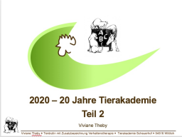 Webinar: 20 Jahre Tierakademie Teil 2