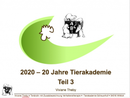 Webinar: 20 Jahre Tierakademie Teil 3